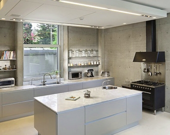 многоуровневый натяжной потолок на кухне фото