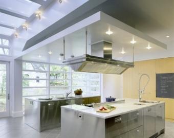 натяжной потолок на кухне возможные уровни фото