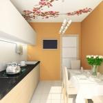 3D render modern interior of dining-room