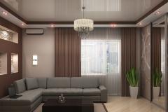 Натяжной-потолок-в-гостиной
